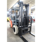 2011 TOYOTA 8FGU25 5000 LB DUAL FUEL FORKLIFT PNEUMATIC 83/189 3 STAGE MAST SIDE SHIFTER 1195 HOURS STOCK # BF02773-DPA