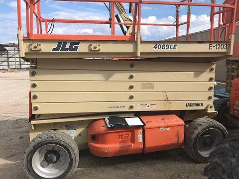 2007 JLG 4069LE SCISSOR LIFT 40' REACH ELECTRIC PNEUMATIC TIRES 280 HOURS STOCK # BF997169-BEMIN