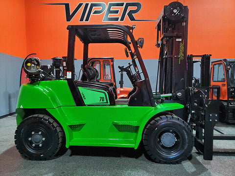 "2020 VIPER FY70 15500 LB DUAL FUEL FORKLIFT PNEUMATIC 108/189"" 3 STAGE MAST SIDE SHIFTING FORK POSITIONER BRAND NEW STOCK # BF9491189-ILIL"