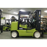 2011 CLARK CGC50 10000 LB LP GAS FORKLIFT CUSHION 95/190 3 STAGE MAST SIDE SHIFTER 2826 HOURS STOCK # BF9191269-269-TPAB