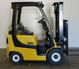 2017 YALE GLP030 3000 LB LP GAS FORKLIFT PNEUMATIC 84/189 3 STAGE MAST SIDE SHIFTER 7,650 HOURS STOCK # BF978859-BUF