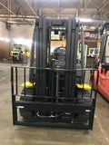 "2014 YALE GDP80 8000 LB DIESEL FORKLIFT PNEUMATIC 90/185"" 3 STAGE MAST SIDE SHIFTER 4600 HOURS STOCK # BF9249179-OHB"