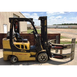 2008 YALE GLC070 7000 LB LP GAS FORKLIFT CUSHION INCLUDES CLAMP ATTACHMENT STOCK # BF995879-189-BUF