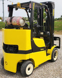 "2014 YALE GLC080VXN 8000 LB LP GAS FORKLIFT CUSHION 94/200"" 3 STAGE MAST SIDE SHIFTER 5850 HOURS STOCK # BF9175349-INB"