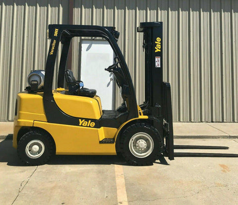 "2006 YALE GLP050VX 5000 LB LP GAS FORKLIFT PNEUMATIC 90/200"" 3 STAGE MAST SIDE SHIFTER STOCK # BF9127499-ARB - United Lift Used & New Forklift Telehandler Scissor Lift Boomlift"