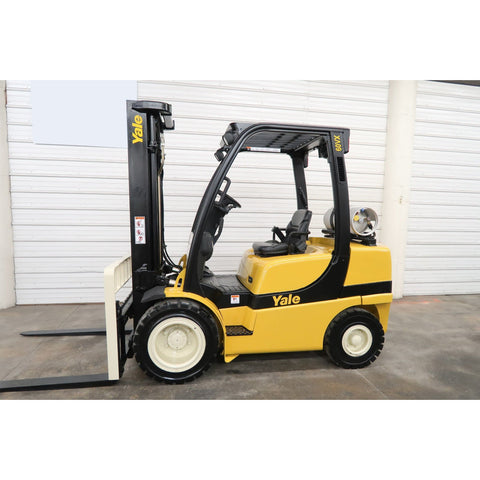 2007 YALE GLP060VX 6000 LB LP GAS FORKLIFT PNEUMATIC 93/199 3 STAGE MAST SIDE SHIFTER 3688 HOURS STOCK # BF19534-DPA ** ONLY $433.00 PER MONTH **