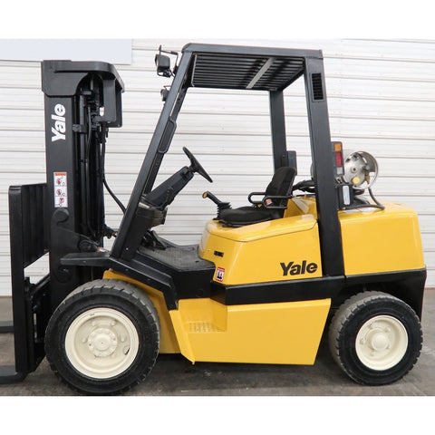 2002 YALE GLP080 8000 LB LP GAS FORKLIFT PNEUMATIC 84/173 3 STAGE MAST 4496 HOURS STOCK # BF18720-DPA ** ONLY $491.00 PER MONTH ** - united-lift-equipment