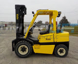 "2006 YALE GLP080 8000 LB LP GAS FORKLIFT PNEUMATIC 98/206"" 3 STAGE MAST SIDE SHIFTER 648 HOURS STOCK # BF9165349-INB"