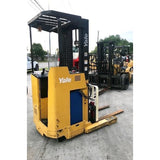 "2005 YALE NR040 4000 LB 36 VOLT ELECTRIC REACH FORKLIFT 203"" 3 STAGE MAST SIDE SHIFTER STOCK # BF967789-119-AETXB - Buffalo Forklift LLC"