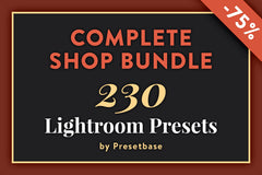 Complete Shop Bundle – All Lightroom Presets by Presetbase