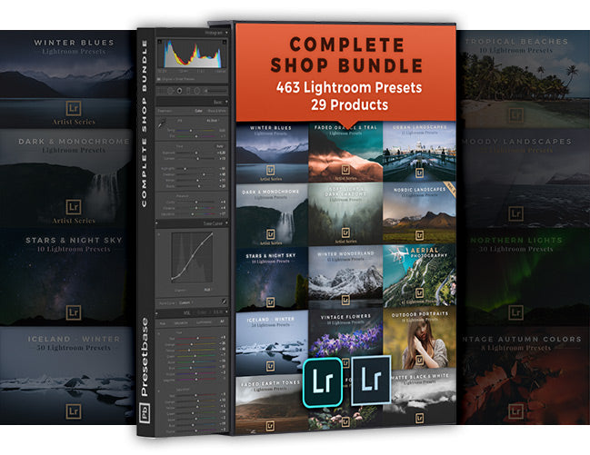 Complete Shop Bundle: 29 Products / 463 Lightroom Presets for Landscape & Travel Photography