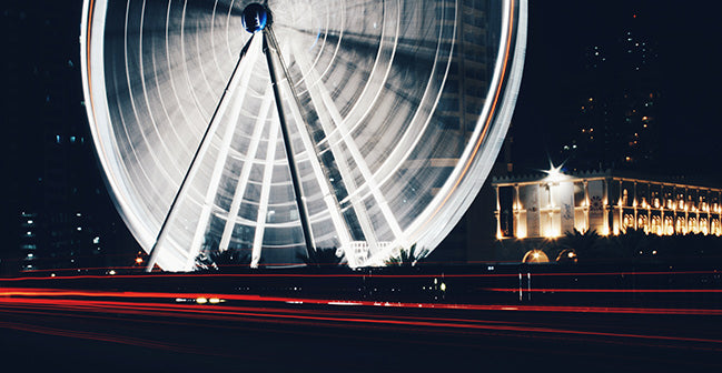 Long Exposure Photography - Ferris Wheel
