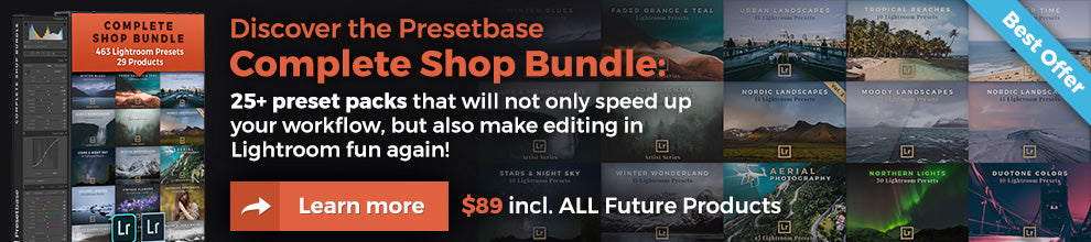 Presetbase - Complete Shop Bundle with 25+ Lightroom preset packs