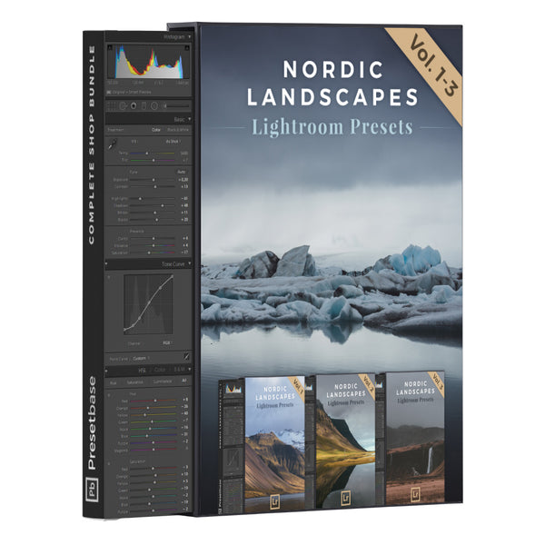 Nordic Landscapes Vol. 1-3 (Bundle) – 45 Lightroom Presets | Presetbase