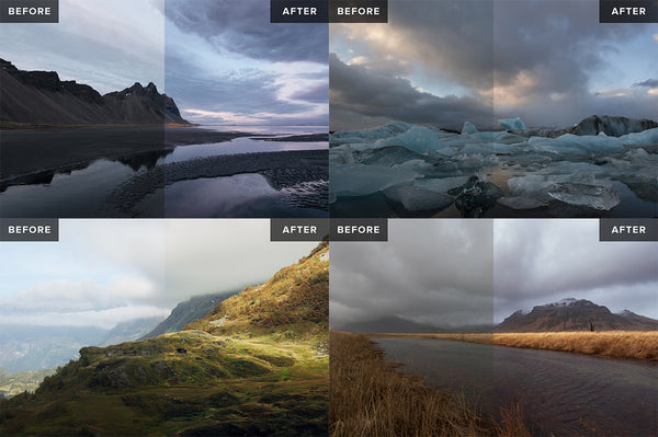 Nordic Landscapes Vol. 1-3 (Bundle) – 45 Lightroom Presets - Lightroom-Presets by Presetbase - 4