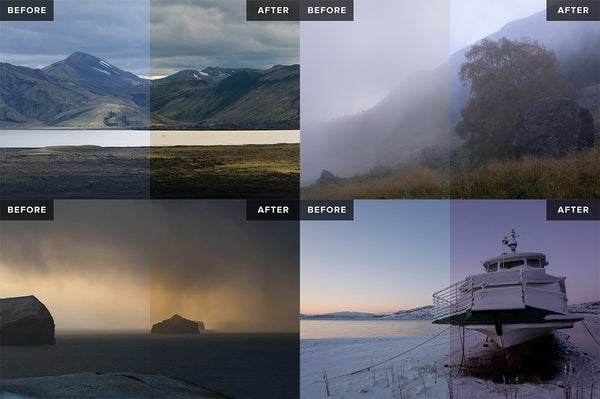 Nordic Landscapes Vol. 1-3 (Bundle) – 45 Lightroom Presets - Lightroom-Presets by Presetbase - 3