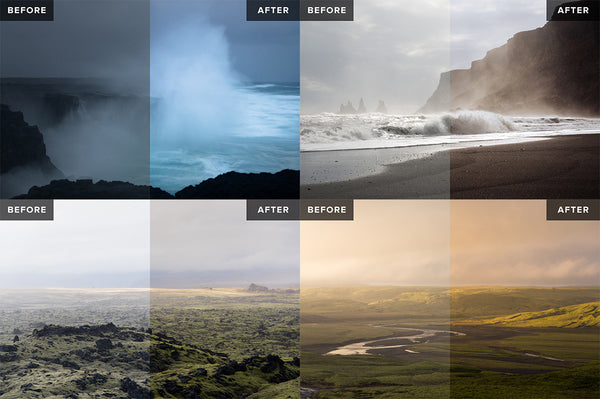 Nordic Landscapes Vol. 1-3 (Bundle) – 45 Lightroom Presets - Lightroom-Presets by Presetbase - 2