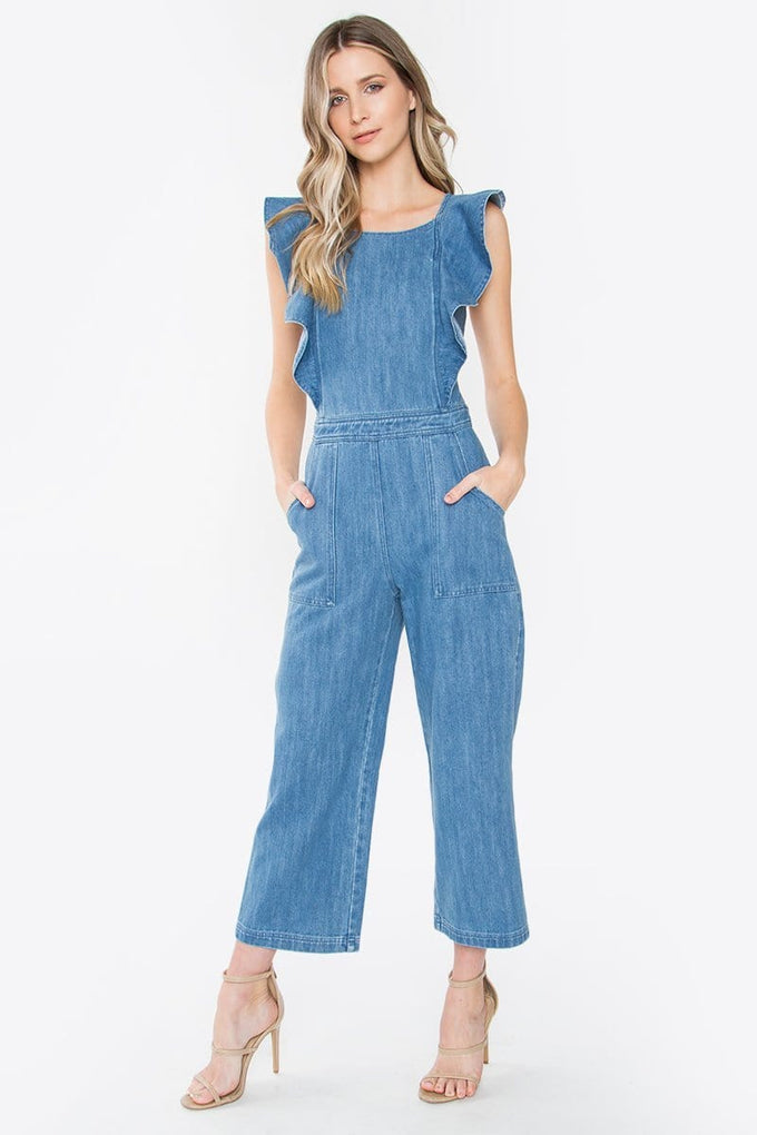 Sugar Lips Sharon Ruffle Jumpsuit