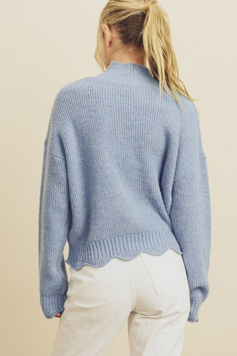 Elaine Mock Neck Sweater
