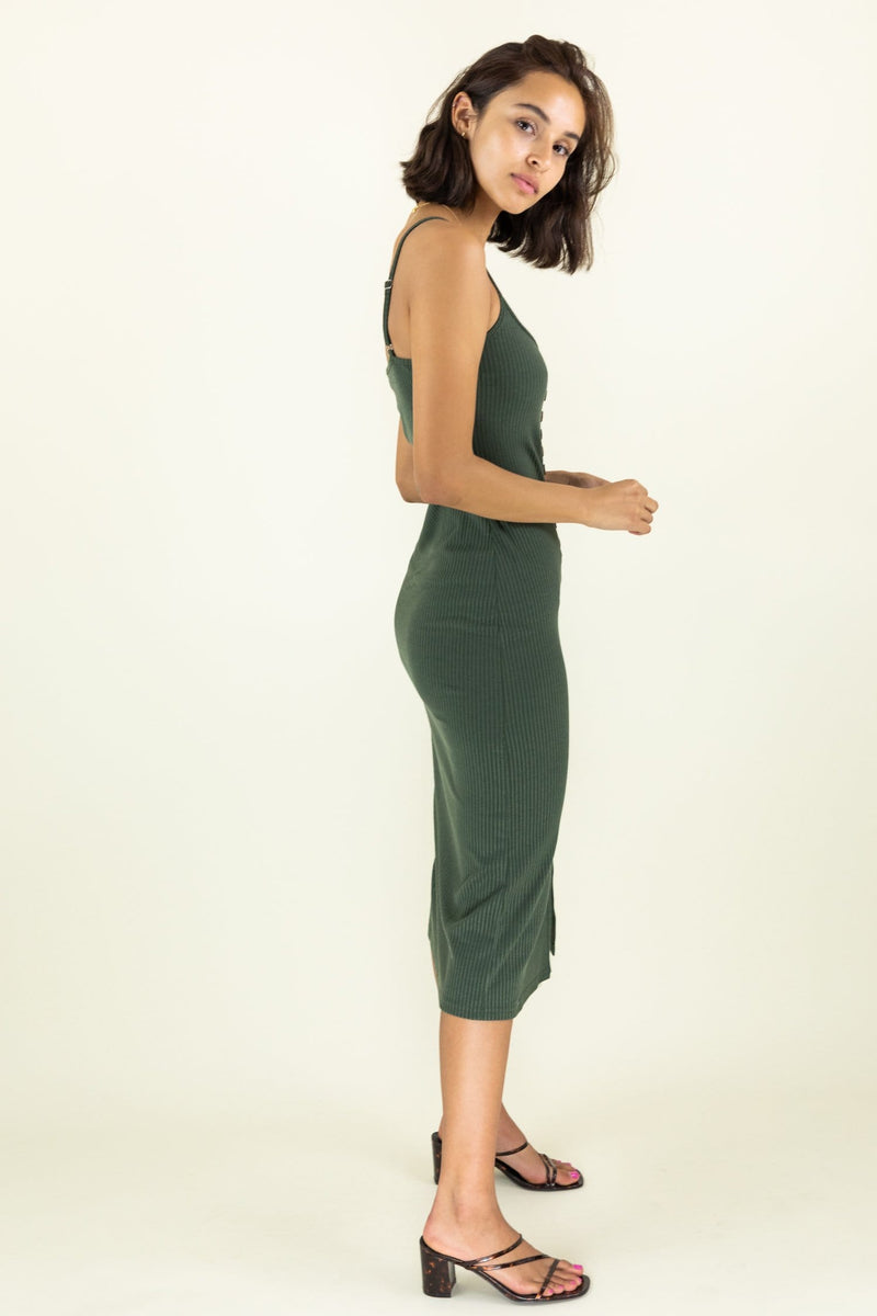 Alana Ribbed Midi Dress