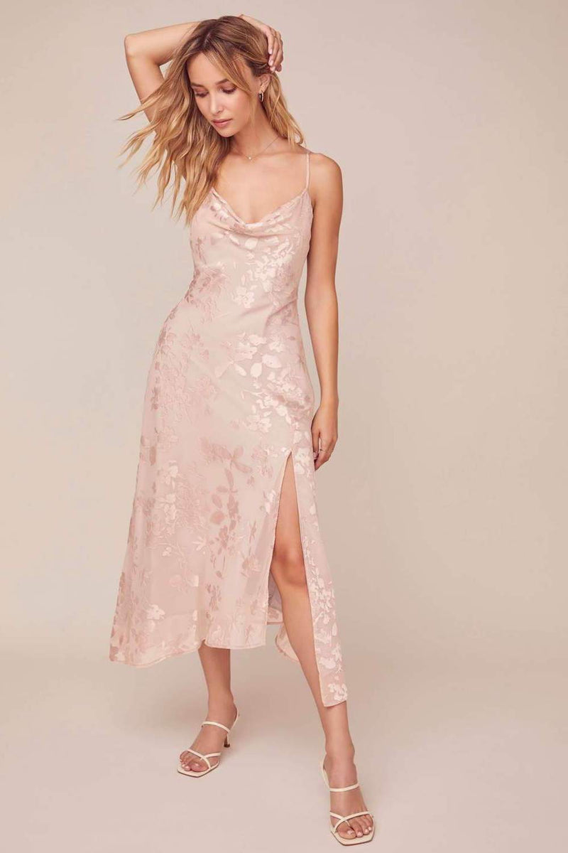 ASTR The Label Gaia Dress Blush Floral