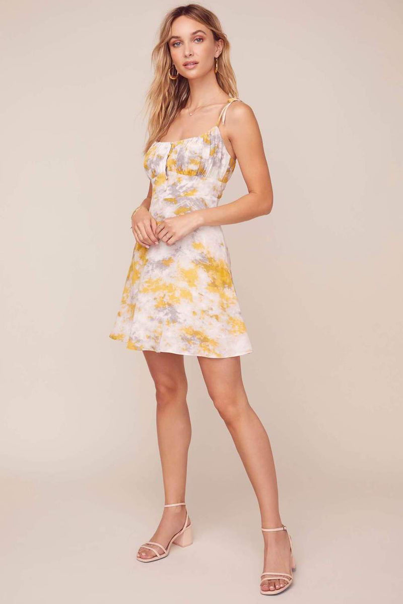 ASTR The Label Mon Cheri Dress Lemon Pink Tie Dye