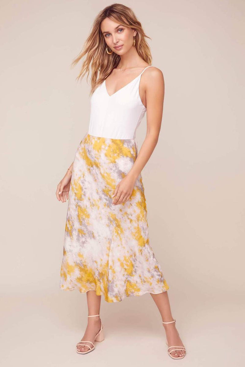 ASTR The Label Nava Skirt Lemon Pink Tie Dye