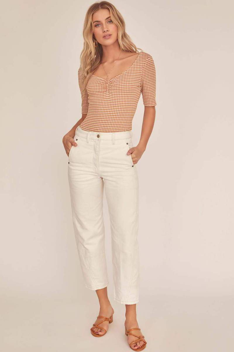 ASTR The Label Diem Bodysuit Tan White