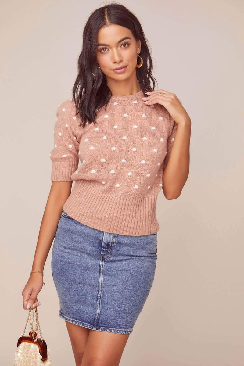 ASTR The Label Melba Sweater Dark Blush