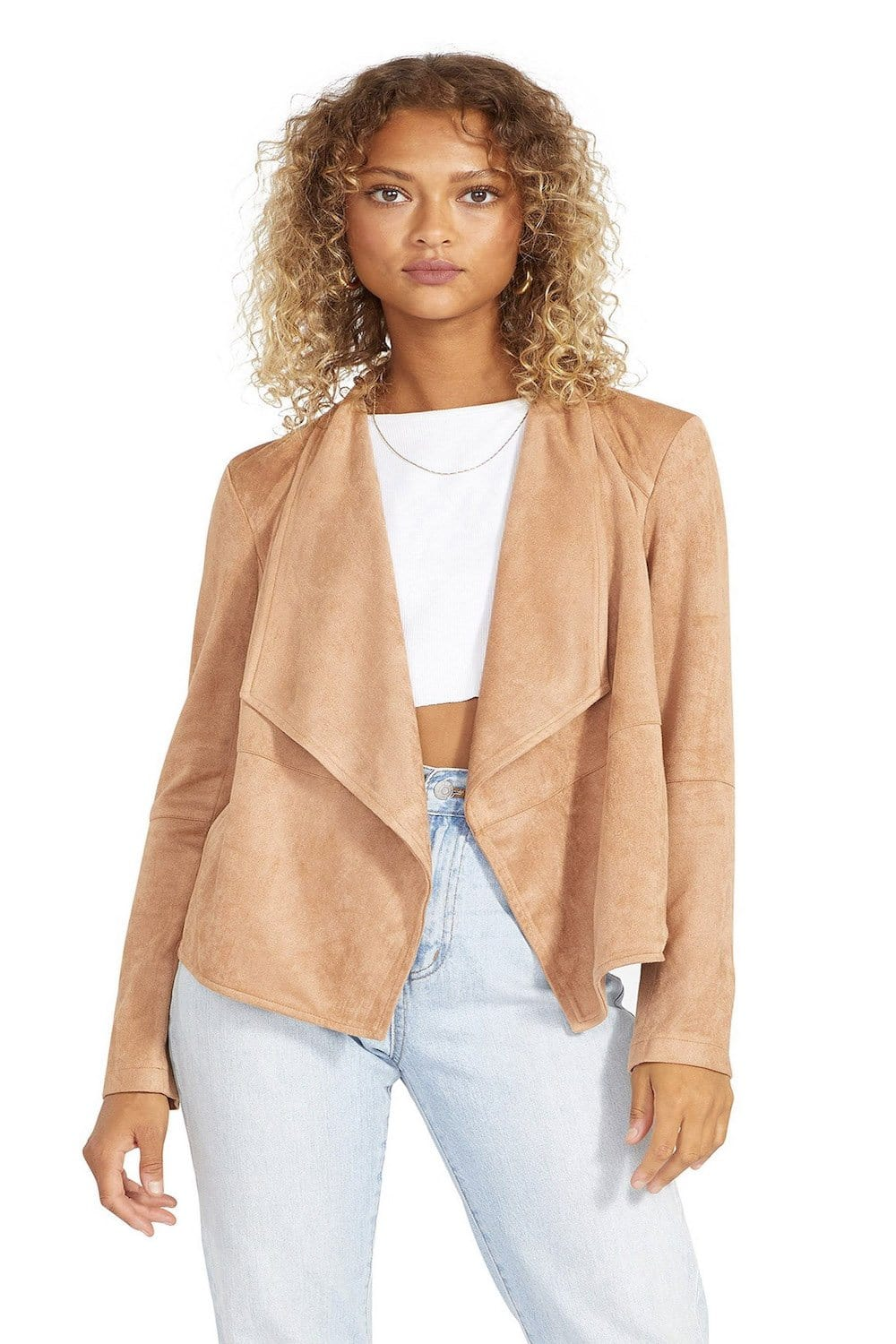 Suede It Out Faux Jacket
