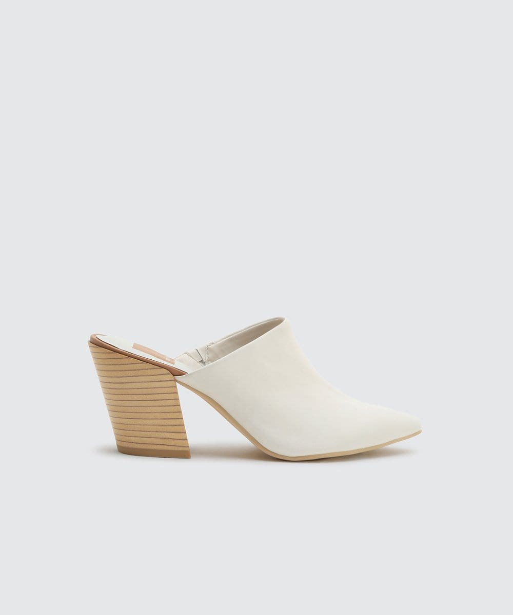 Dolce Vita Angela Pointy Toe Mule White
