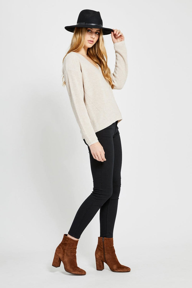 Gentle Fawn Tucker Sweater Oatmeal Cream