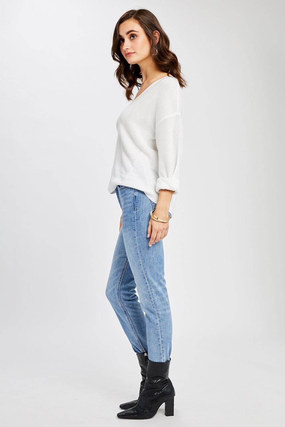 Gentle Fawn Tucker Sweater White