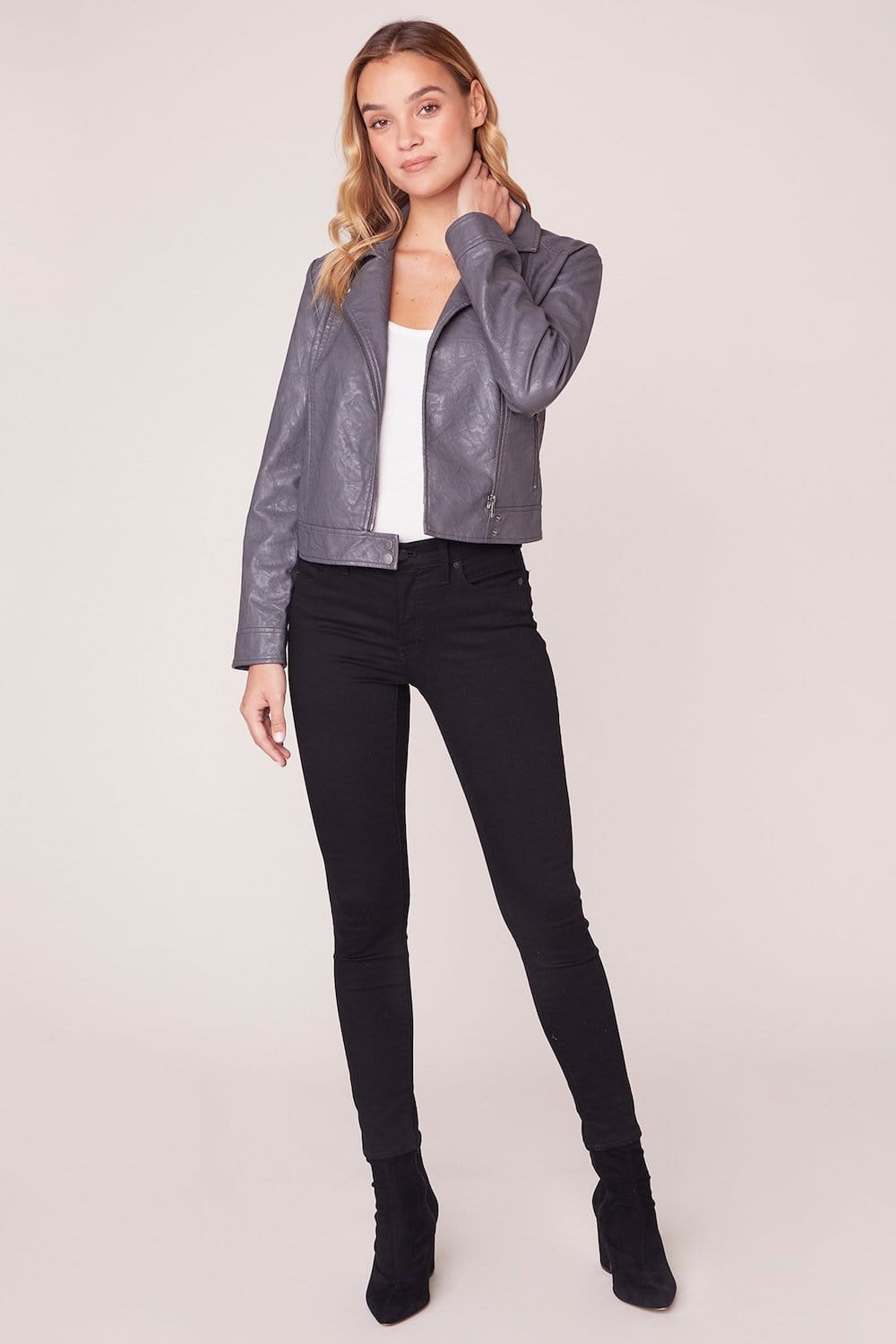 Jack By BB Dakota Take It For A Spin Vegan Leather Moto Jacket
