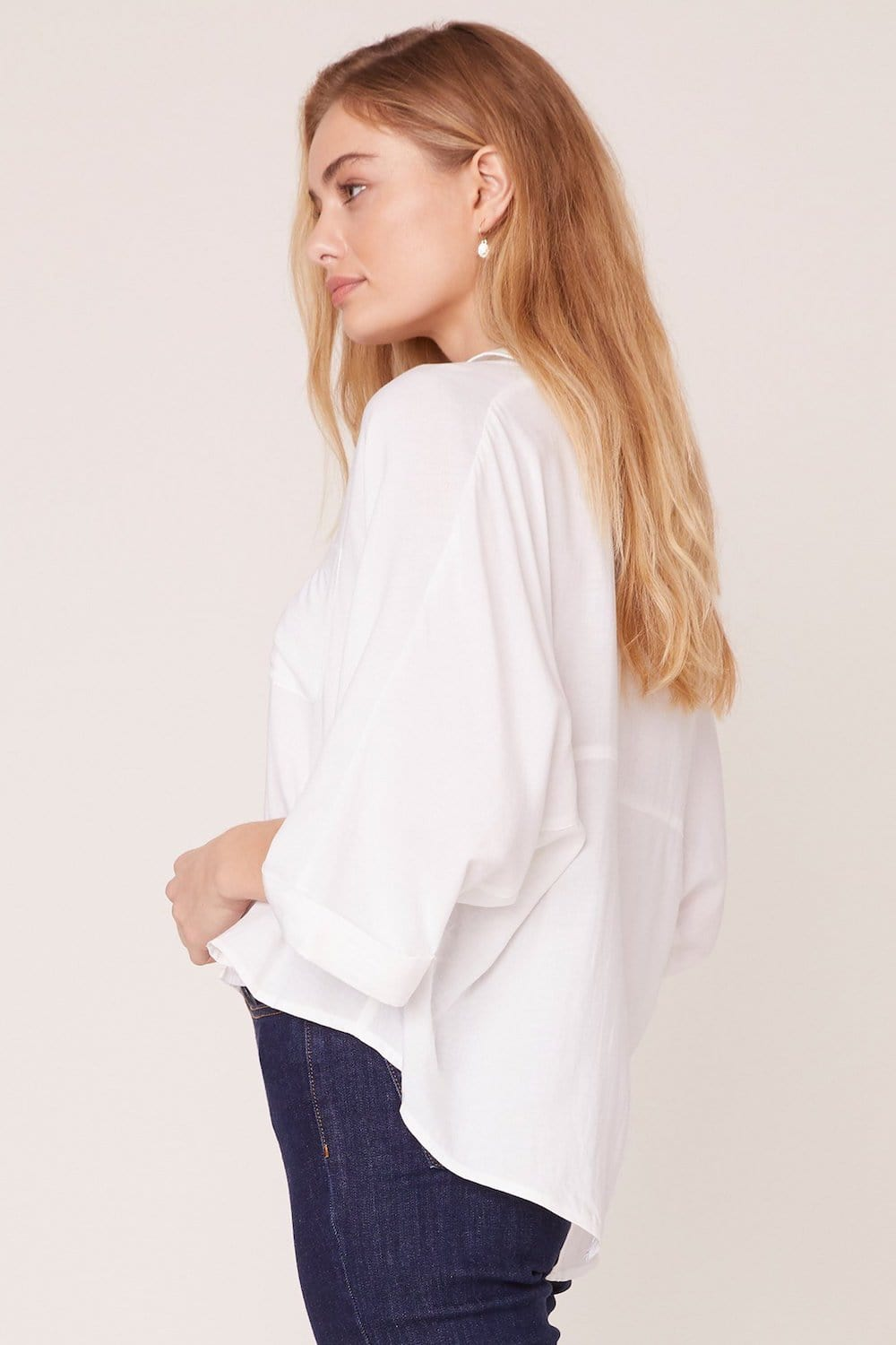 Jack by BB Dakota Let's Split Dolman Top Optic White