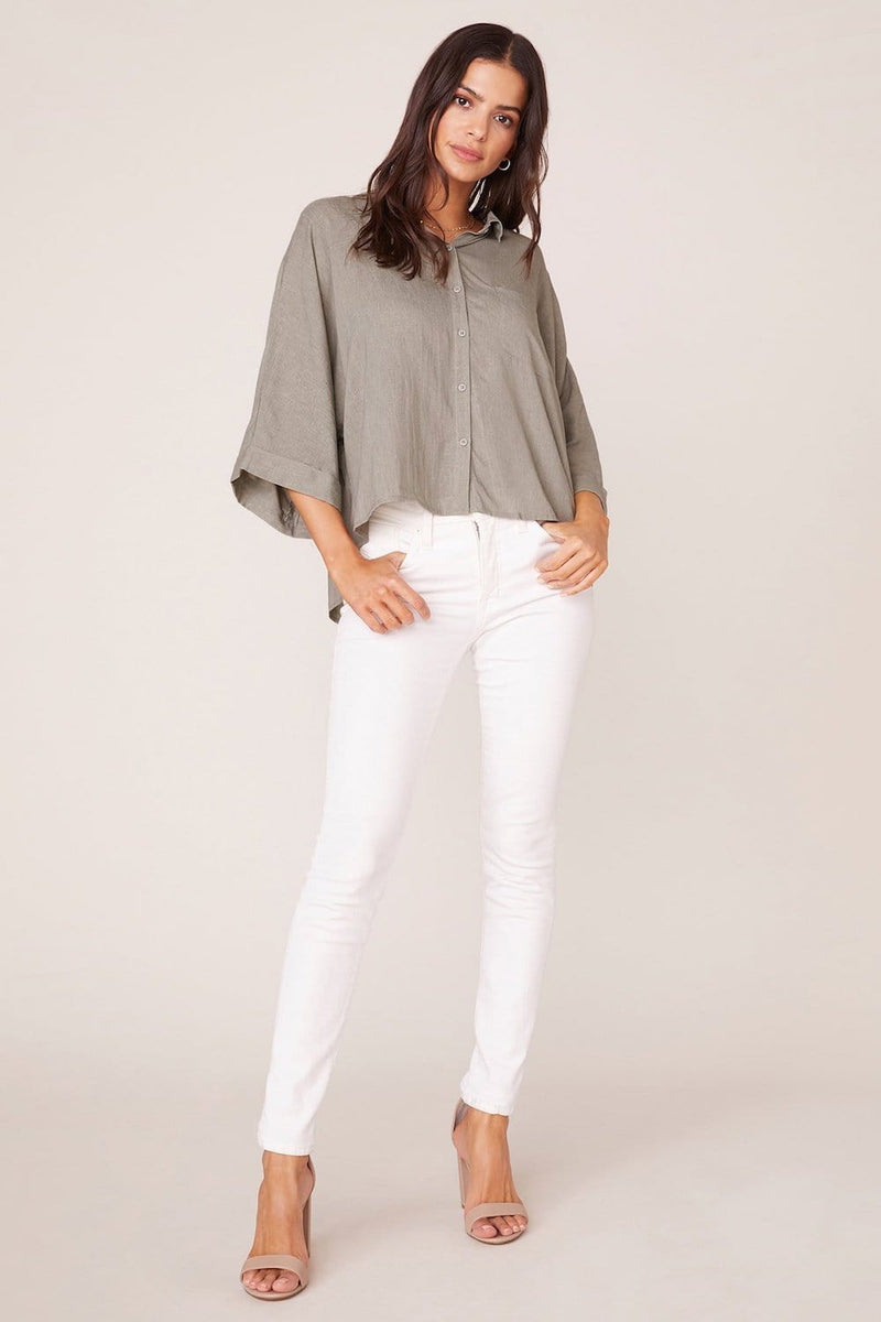 Jack by BB Dakota Let's Split Dolman Top Sage