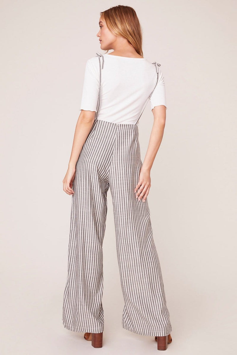 Tie On The Prize Stripe Jumpsuit