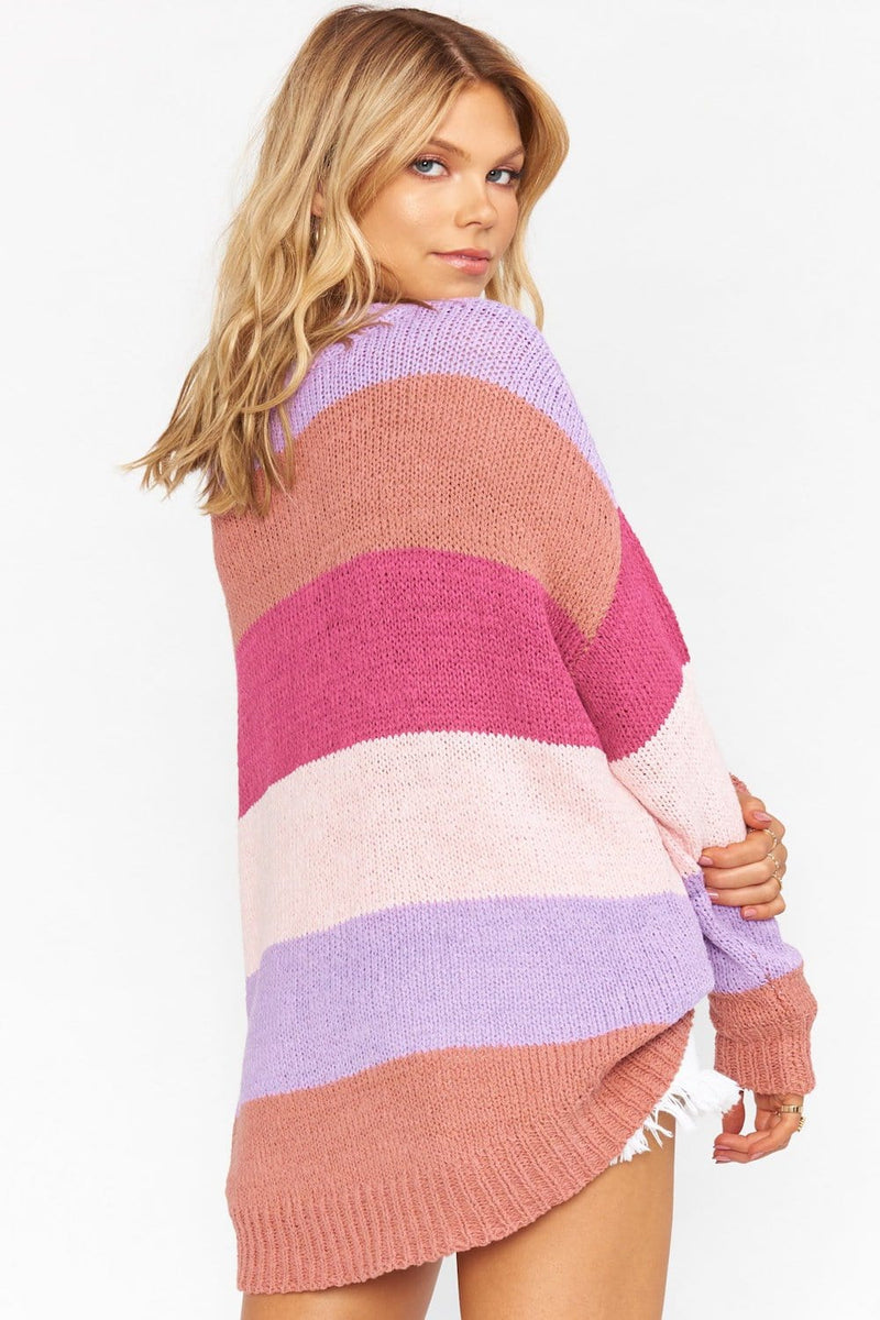 Show Me Your Mumu Woodsy Sweater Sunset Stripe Knit
