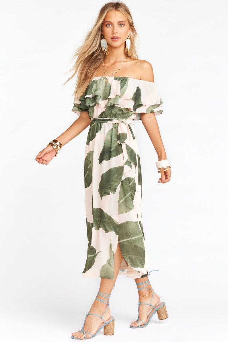 Show Me Your Mumu Rosie Dress Queen Palms