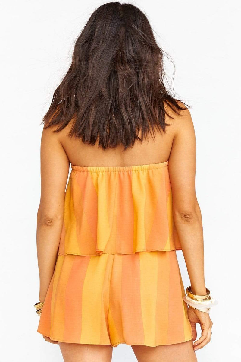 Show Me Your Mumu Thelma Romper Sunkissed Striped