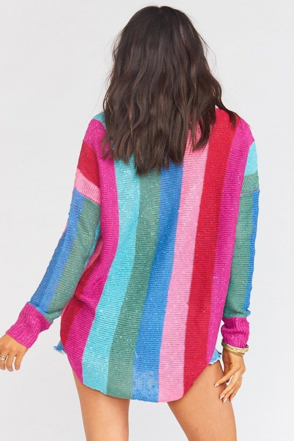 Show Me Your Mumu Bonfire Sweater in Madly Stripe Knit