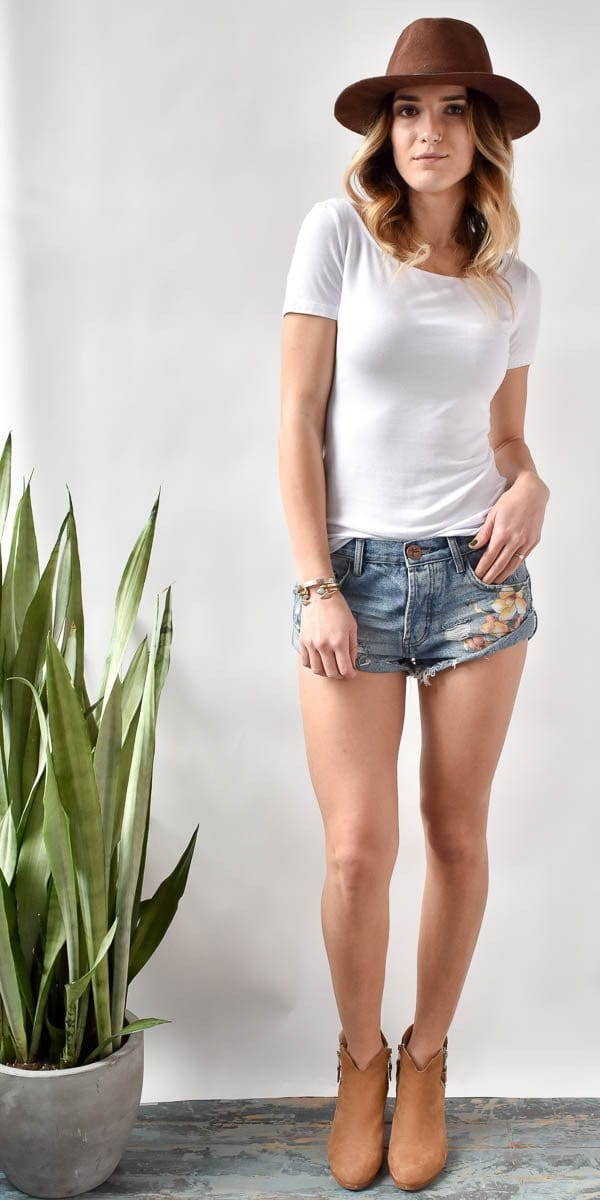 One Teaspoon Bandits Orchid Shorts