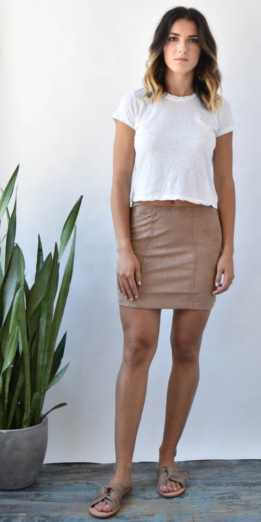 Gentle Fawn Cassian Suede Mini Skirt