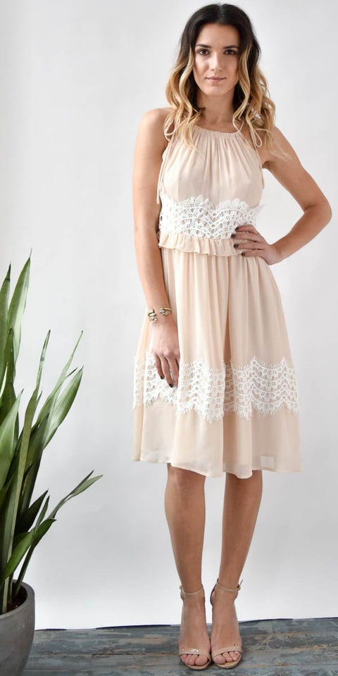 Endless Floral Lace Tie Dress