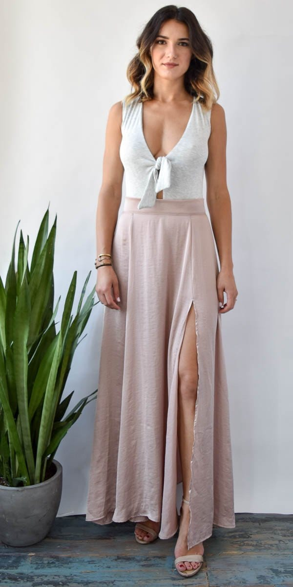 Stillwater Forever Summer Maxi Skirt Blush
