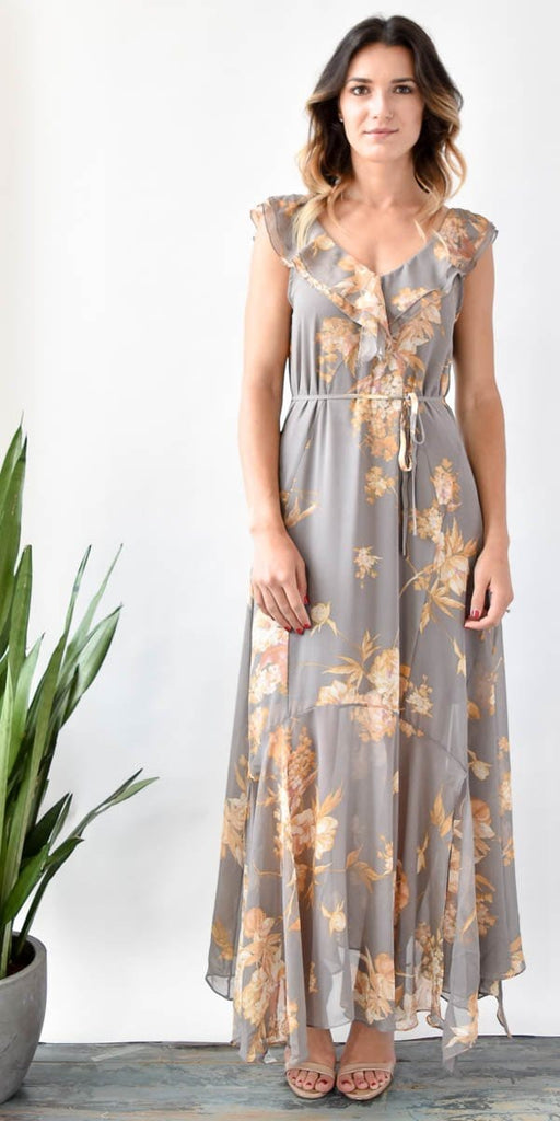 Vera Flutter Sleeve Maxi Dress San Diego, CA