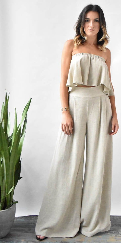 Otis & Maclain Florence Wide Leg Pant Bella Top