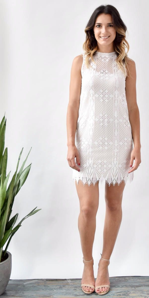 Gentle Fawn Hayes Eyelet Shift Dress