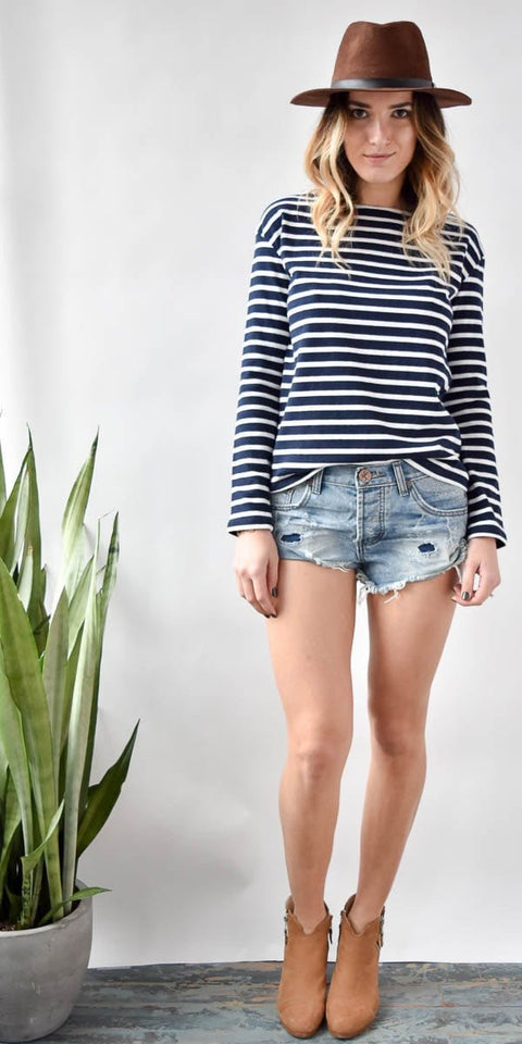 One Teaspoon Bandits Blue Jack Shorts