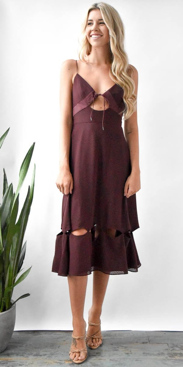 Finders Keepers Muse Dress in Plum